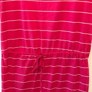 Only Dresses - Pink and white striped t shirt dress